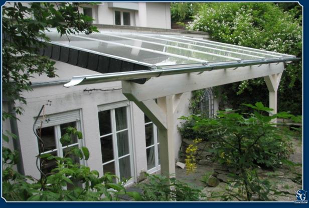 TerrassenUberdachung Holz Mit Glasdach ~ Das Holz ist von allen Seiten geschützt (mit Aluminium, Edelstahl und