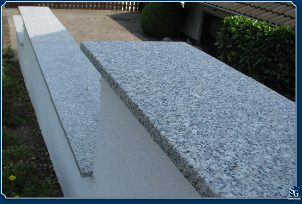 sg hausoptimierung mauerabdeckung aus granit. Black Bedroom Furniture Sets. Home Design Ideas